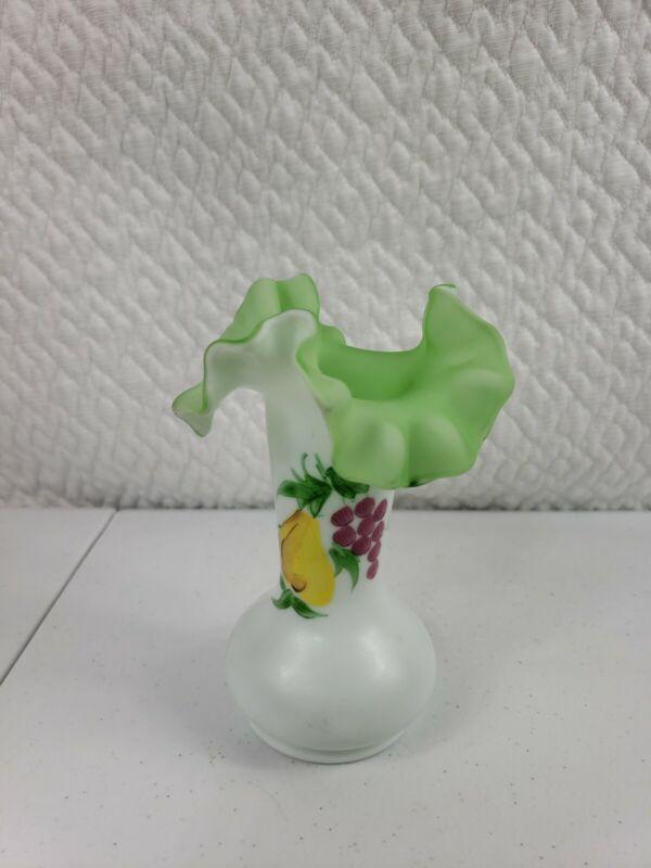 Fenton Vase hand painted Truffle