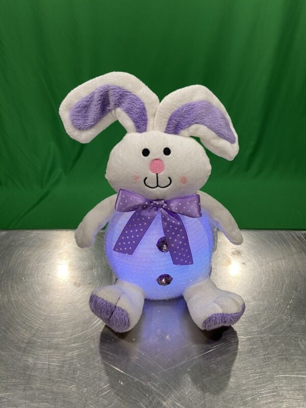 """Avon Easter Light Up Color Changing Bunny Rabbit 9"""" Lighted Display Figure Works"""
