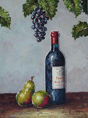 """Ayton Wine"" Original Hand Painted 12""x16"" Oil Painting Food Canvas Art"
