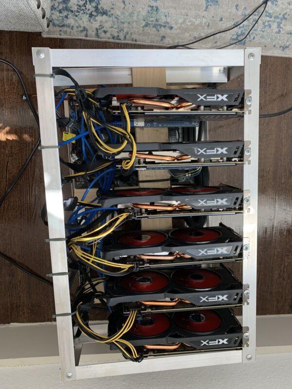Mining Rig w/ 6 x GPU AMD RX 570 8GB!