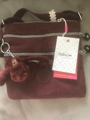 Kipling Alvar Shoulder Bag in Crimson