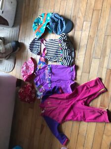 12-24 month bathing suits and sun hats