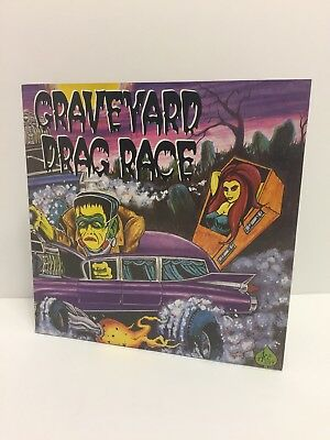 Graveyard Drag Race~2x 7 colored vinyl. New. Never used/ Never played. Halloween