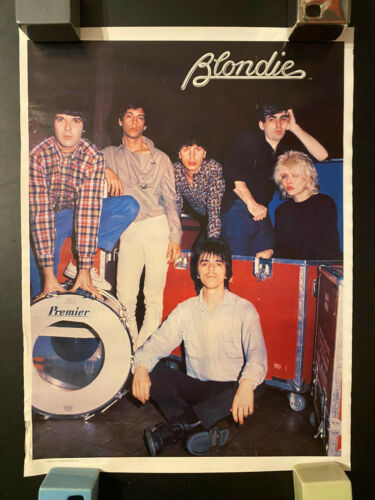 1979 Blondie rolled poster Plastic Letters era Parallel Lines logo #2 edge wear