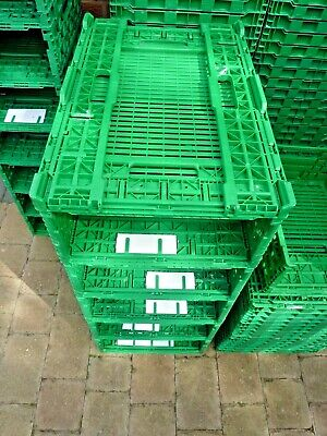 Plastic Storage Crates Folding Stackable Strong & Durable 600 x 400 x 100mm  x1
