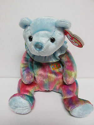 - Ty BB March Birthday Ruffle Bear Collection PRISTINE CLEAN Brand New Mint Tags