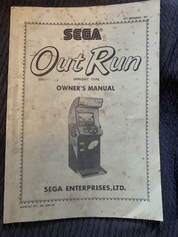 Original Sega Outrun Arcade Game Manual