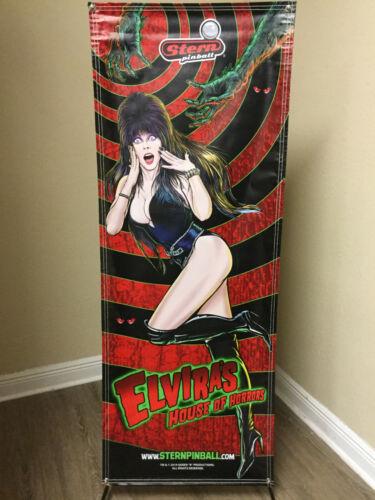 Elvira House of Horrors Sexy Banner Mancave Gameroom Arcade Art Stern Pinball