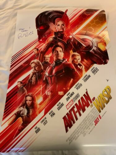 PAUL RUDD SIGNED 27x40 DOUBLE SIDED ANT-MAN POSTER EXACT PROOF COA AUTOGRAPH