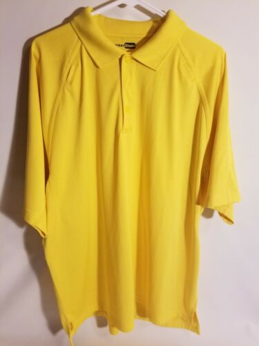 Men's Corner Stone Shirt size XL Polo Yellow Tactical Pen &