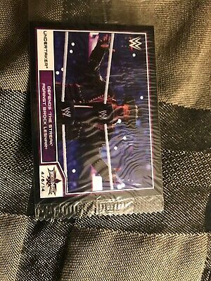 2014 Topps WWE Road to Wrestlemania Undertaker VS Brock Lesnar Preview Card (Wwe Wrestlemania 2014 Brock Lesnar Vs Undertaker)