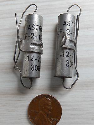2 Astron Aqf .12uf 200vdc Pio Capacitors Nos Paper In Oil