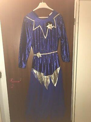 Karneval / Damen Gr. S/M Blau-gold - Gold Feen Kostüm