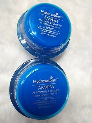 Hydroxatone lot 2 AM/PM Old Stock Anti Wrinkle Complex Broad Spectrum SPF 15