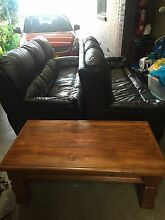 2 x 3 seater leather brown lounges only Concord West Canada Bay Area Preview
