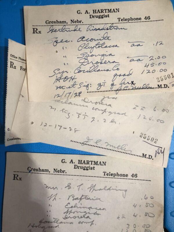 Antique Prescription ASSORTED EACH 1920's ONE