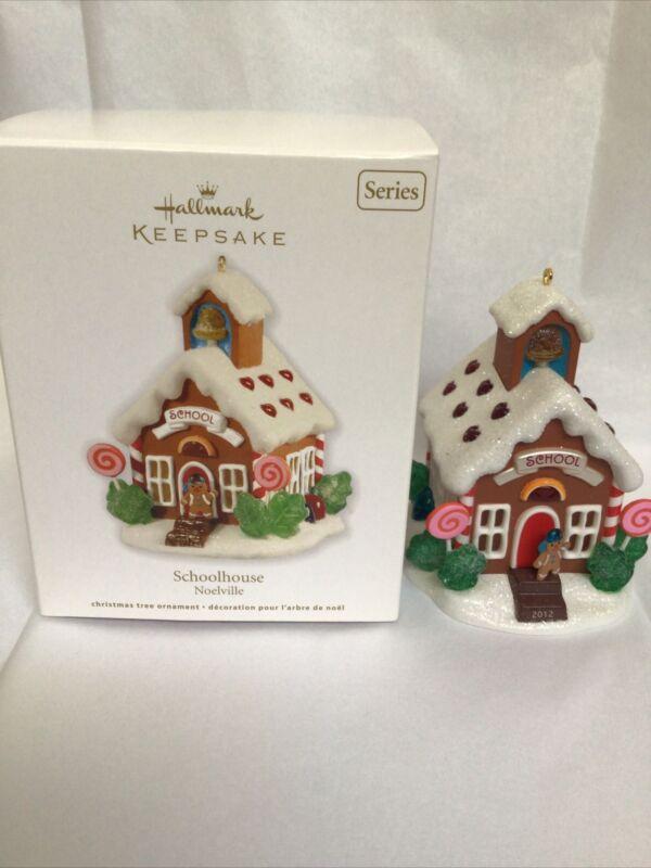 """2012 Hallmark Keepsake Christmas Ornament """"Schoolhouse"""" Noelville Series"""