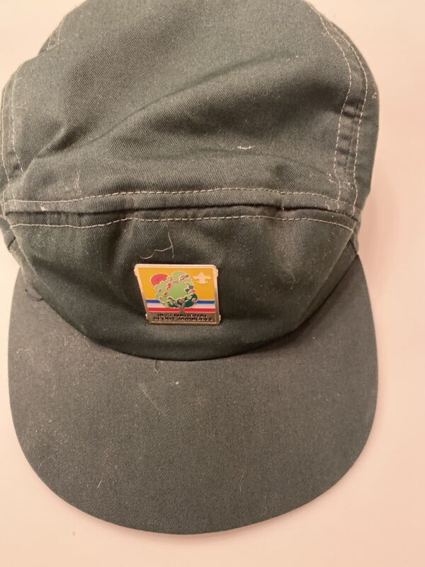 """1973 Boy Scout National Scout Jamboree Hat Scouts BSA Extra Large 7 3/8""""-7 5/8"""""""