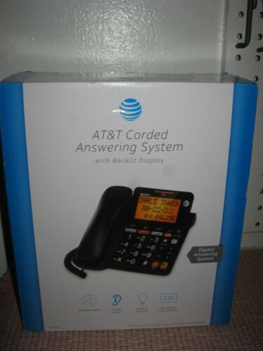 NOS AT&T CD4930 Corded Phone with Answering System and Caller ID, Black NIB