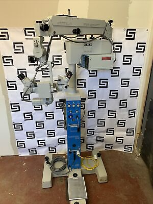 Carl Zeiss Opmi Md Surgical Dual Microscope Universal S3b Base Stand Foot Pedal