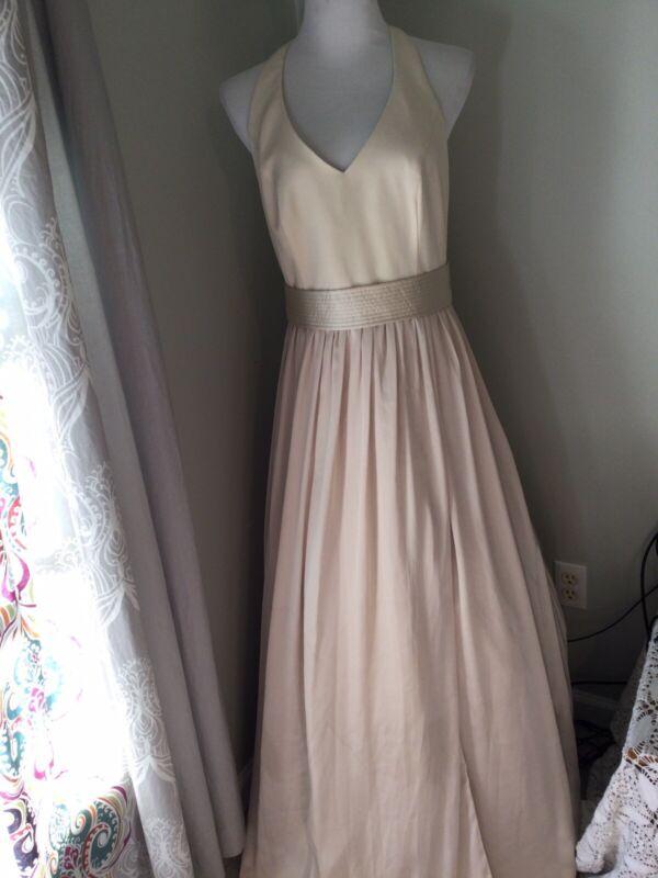 White by Vera Wang Bridesmaid Dress Womens Size 12 Champagne Long