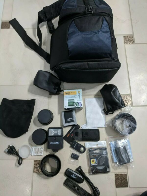 Camera Lenses, Filters Carrying Bag, And Other Accessories, Fits Nikon D5100