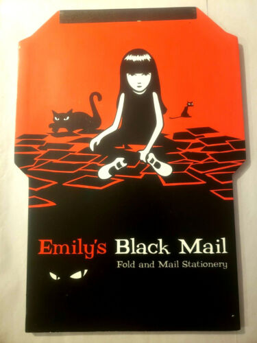 Emily the Strange ESP 2001 NEW Black Mail Fold and Mail Stationary NEW OLD STOCK