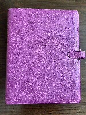 Filofax - A4 Finsbury Raspberry - Full Grain Leather Agenda Planner