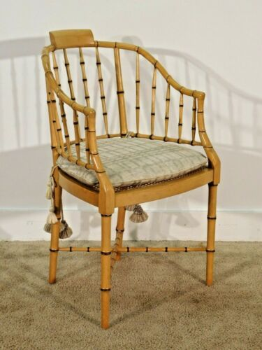 Baker Furniture Company English Regency Faux Bamboo Arm Chair