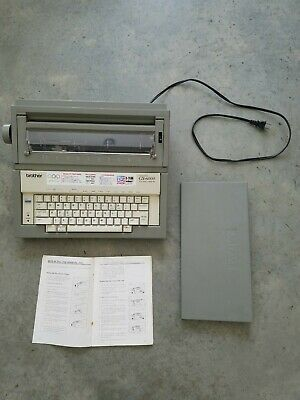 Vintage Brother Gx-6000 Electric Portable Typewriter Wcover Works Great Clean