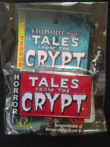 """""""TALES FROM THE CRYPT"""" LOGO ENAMEL PIN BADGE 2018"""