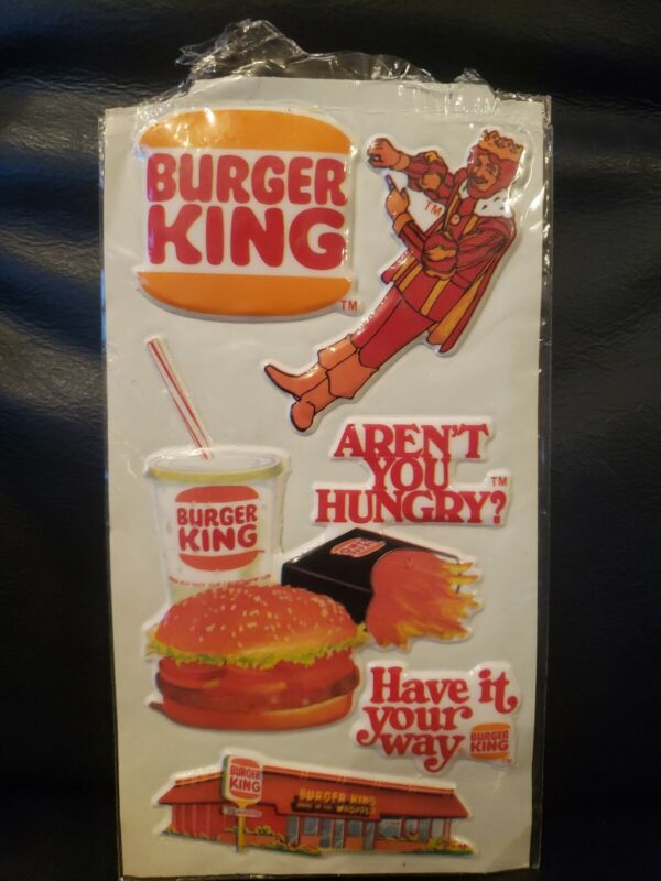 Vintage Burger King Puffy Stickers