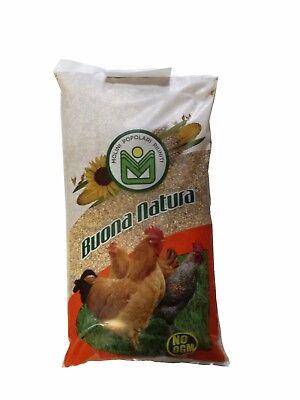 MANGIME BUONA NATURA NO OGM PER POLLI E GALLINE MIX DI CEREALI IN GRANI  KG 25