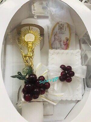 First Holy Communion Candle Set Spanish Girls Gift Vela Para Primera -