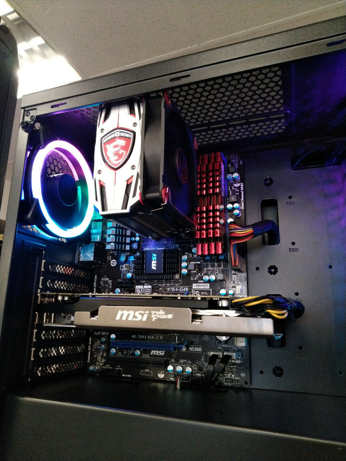 Pc gamer msi, amd fx 8350 @ 8 x 4,00 ghz, 16 go ddr3, radeon hd 7950 - 3 go, w10