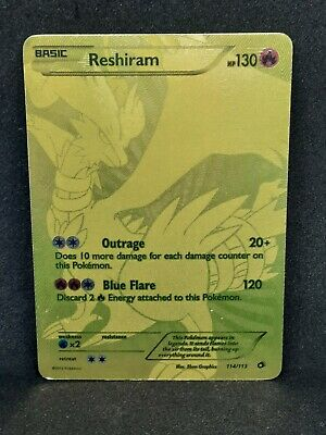 Reshiram 114/113 Legendary Treasures Gold Full Art Secret Rare Played