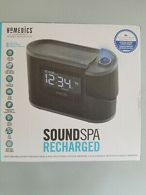HoMedics Soundspa Recharged Sleep Solutions Projection Alarm Clock Sound -