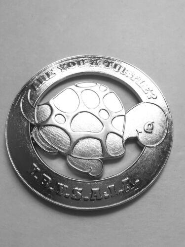Masonic  Metal Chrome Are you a turtle  Auto Car Emblem