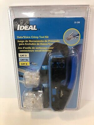 Ideal 33-396 5-38 Crimper And Connector Kit Rj-45 Rj-11 Datavoice Crimp Tool