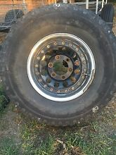"15"" Aluminium 6x139.7 2 piece 4x4 rims & tyres set of 4 Greensborough Banyule Area Preview"