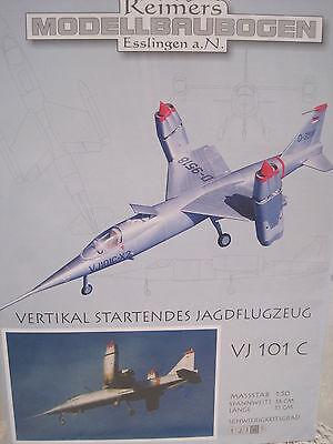 VJ 101 C Jagdflugzeug Flugzeug Kartonbausatz NEU Bastelbogen