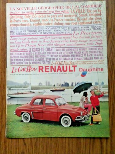 1959 Renault Dauphine Ad  Le Car Hot
