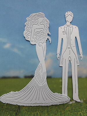 """""""SUMMER BRIDE & GROOM"""" 8 die cuts.Wedding/Anniversary   (See postal discount!)"""
