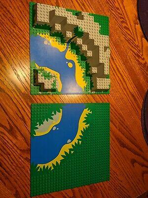 LEGO Raised Canyon River Enchanted Island Baseplate 6024 32x32 set