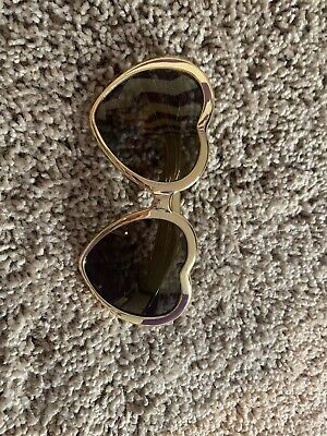 Victoria Secret Pink Sunglasses Cute Heart Shape Black And (Victoria Secret Sunglasses)