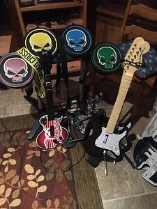 Rock Band Instruments.