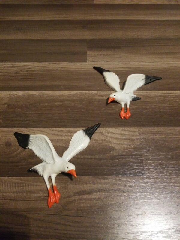 Vintage John Wrigh Metal Seagull Bird Pair 7""