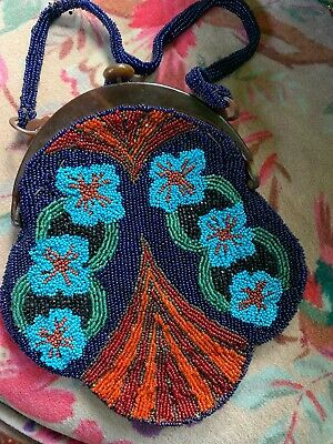 1930s Handbags and Purses Fashion 1930s/40s micro beaded evening bag $79.00 AT vintagedancer.com