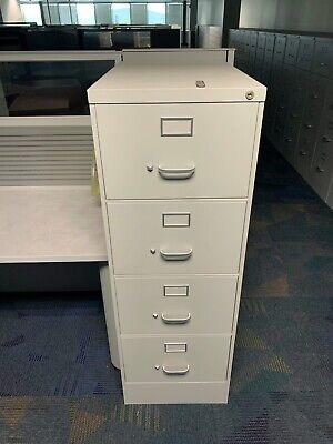 Four Drawer Vertical Legal File Cabinets18w X 25d X 52h Tan 80 Available