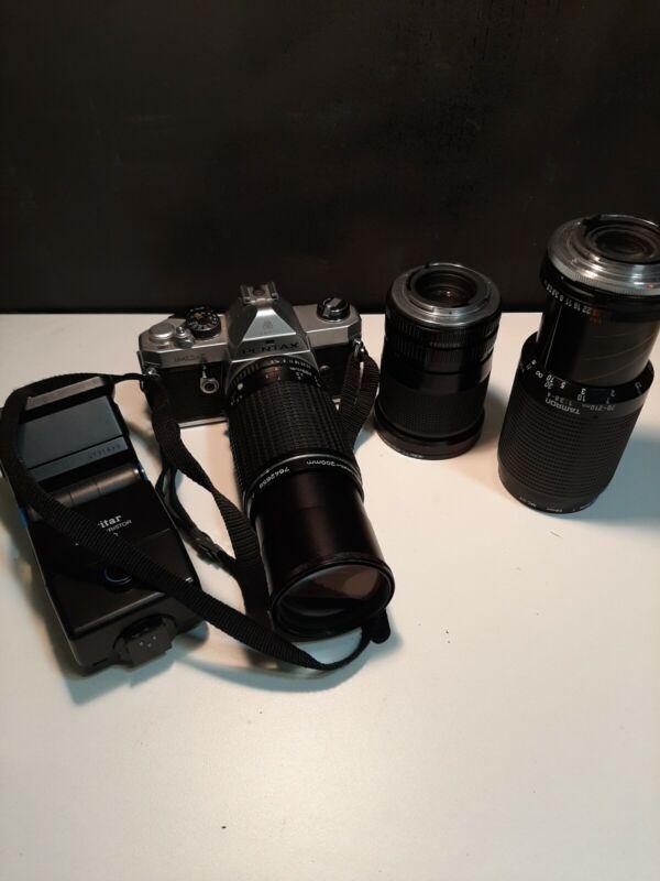 Asahi Pentax MX 35mm With 3 Lens
